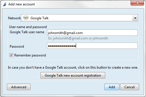 Set Up Google Talk | Jitsi